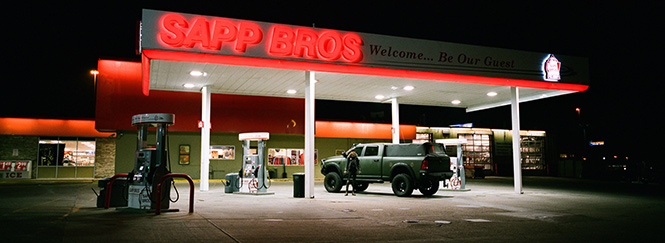 Andy Sapp - Self Portrait - Sapp Bros Truck Stop • Omaha, Nebraska